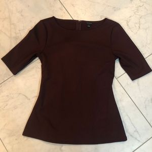 Ann Taylor Fitted Peplum Top